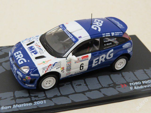 "Ford Focus RS WRC Rally No.6 ""2001"" IXO"